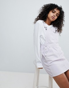 Сиреневое вельветовое платье-комбинезон ASOS - Фиолетовый