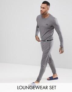 Пижамный комплект в подарочной упаковке Diesel - Серый