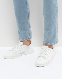 Белые кожаные кроссовки с заклепками Diesel - Белый