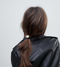 2 резинки для волос с каучуковой отделкой в виде квадратов ASOS - Мульти