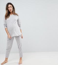 Удлиненный свитшот и джоггеры ASOS Maternity - Серый