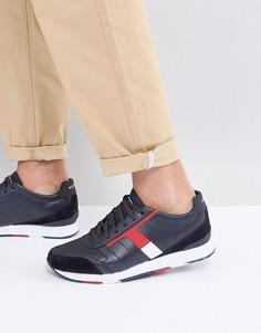Темно-синие кожаные кроссовки Tommy Hilfiger Leeds - Темно-синий