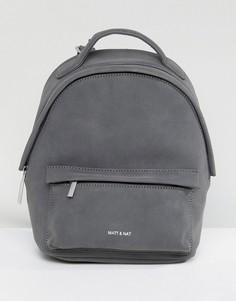 Серый мини-рюкзак из искусственной замши Matt & Nat Munich - Серый