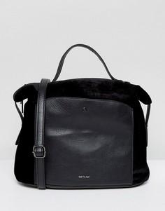 Бархатная сумка-тоут Matt & Nat Bava - Черный