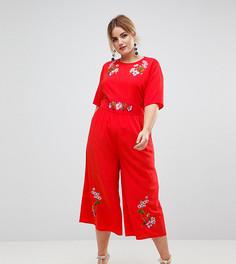 Комбинезон с вышивкой ASOS CURVE - Красный