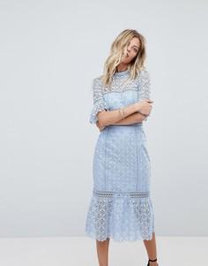 Платье с рукавами клеш Forever New - Синий