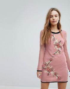 Сетчатое пляжное платье Minkpink San Antonio - Розовый