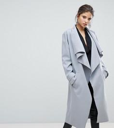 Пальто с драпировкой Missguided - Серый