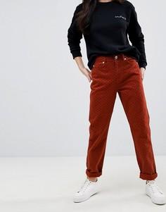 Джинсы в винтажном стиле с принтом в горошек ASOS ORIGINAL - Красный