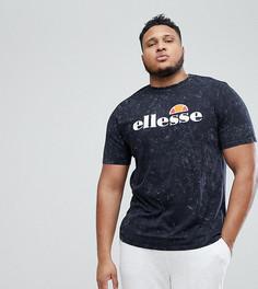 Черная выбеленная oversize-футболка Ellesse Plus - Черный