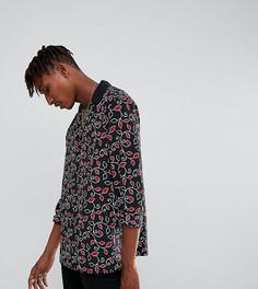 Рубашка классического кроя с цветочным принтом Reclaimed Vintage Inspired - Черный