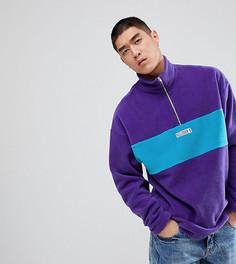 Фиолетовый флисовый джемпер на молнии Reclaimed Vintage Inspired - Фиолетовый