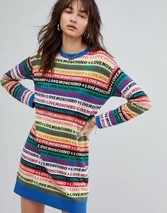 Разноцветное трикотажное платье Love Moschino - Мульти
