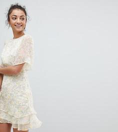 Чайное платье с цветочным принтом Fashion Union Tall - Мульти