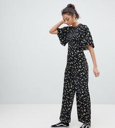 Комбинезон с рукавами-кимоно и цветочным принтом Fashion Union Tall - Мульти