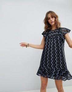 Платье мини с оборками Anna Sui - Мульти