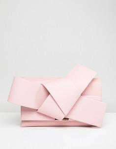 Кожаный клатч с бантиком Ted Baker - Розовый