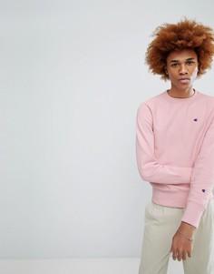 Розовый свитшот с маленьким логотипом Champion - Розовый