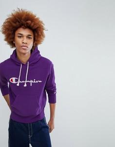 Фиолетовый худи с логотипом Champion - Фиолетовый