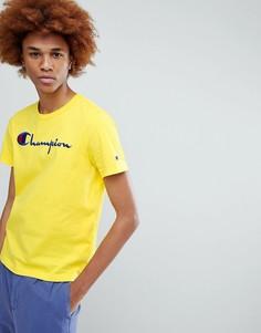 Желтая футболка с крупным логотипом Champion - Желтый