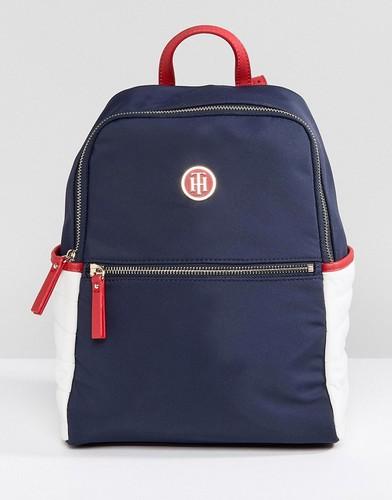 Нейлоновый рюкзак Tommy Hilfiger - Темно-синий