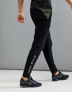 Черные джоггеры в стиле колор блок Jack Wills Sporting Goods Wexham - Черный