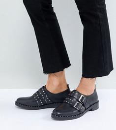 Кожаные туфли на плоской подошве ASOS MOLTEN Premium - Черный