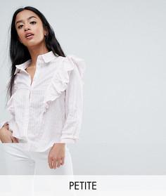 Рубашка в полоску с оборками Noisy May Petite - Розовый