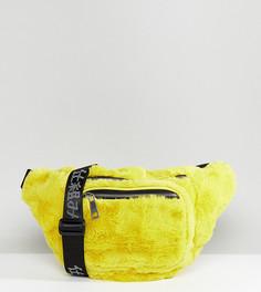 Желтая сумка-кошелек на пояс из искусственного меха Shikumi - Желтый