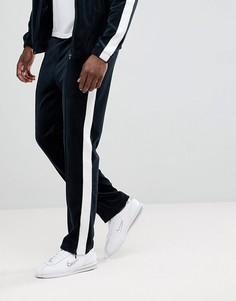Комбинируемые велюровые спортивные брюки Weekday - Синий