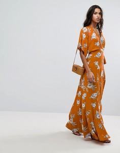 Платье макси с цветочным принтом Faithfull - Оранжевый