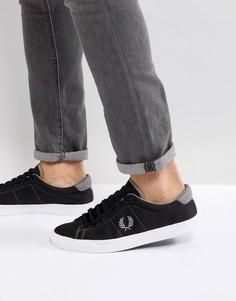 Черные нейлоновые кроссовки Fred Perry - Черный
