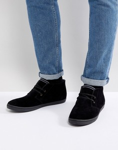 Черные замшевые туфли Fred Perry - Черный