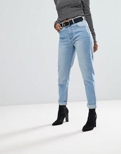 Джинсы в винтажном стиле PrettyLittleThing - Синий