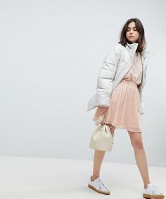 Декорированная короткая расклешенная юбка Pieces - Розовый
