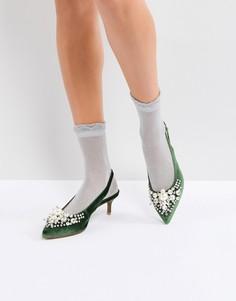 Туфли на каблуке с отделкой Essentiel Antwerp Pastis - Зеленый