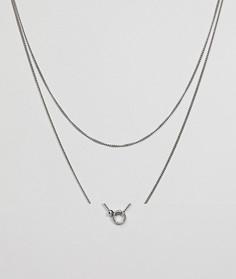 Длинное ярусное ожерелье Pieces - Серебряный