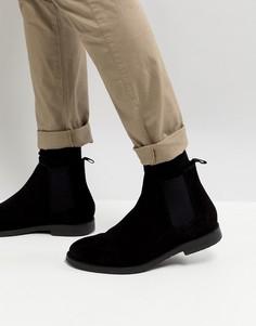 Черные замшевые ботинки River Island - Черный