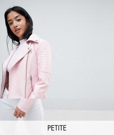 Байкерская куртка из искусственной кожи Noisy May Petite - Розовый