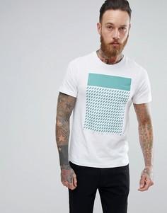 Белая узкая футболка с принтом Farah Chestering - Белый