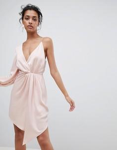 Асимметричное платье C/Meo Collective - Розовый