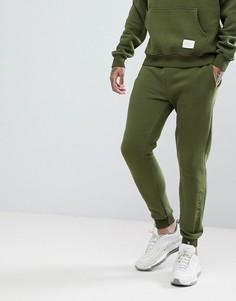 Джоггеры скинни цвета хаки с логотипом Criminal Damage - Зеленый