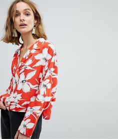 Блузка с цветочным принтом в винтажном стиле Vero Moda - Мульти