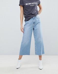 Широкие укороченные джинсы River Island - Синий