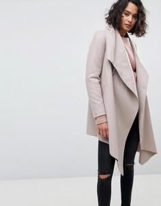 Пальто с запахом и пряжкой AllSaints - Серый