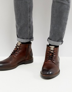 Темно-коричневые ботинки чукка River Island - Коричневый