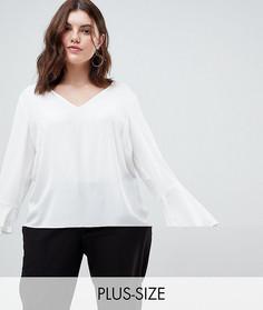 Блузка с оборками на рукавах Junarose - Белый