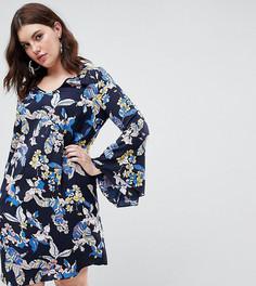 Цельнокройное платье с цветочным принтом Junarose - Мульти