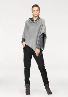 Комплект, 2 части: блузка + пончо