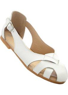 Туфли из кожи (белый) Bonprix